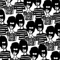 Bouffant Girls Pattern.
