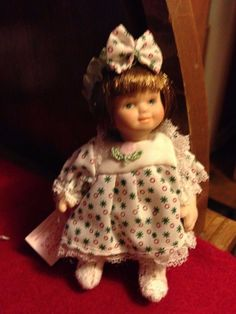 Cameo Kids Collectible Porcelain Female Doll 3 Inch Tiny Tot Girl 12 + Girls #CameoKids #Dolls