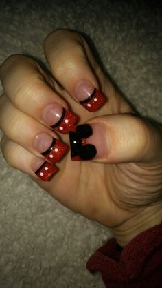 My new Mickey Mouse nails!!! <3