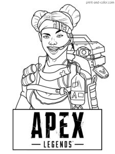 17 APEX LEGENDS COLORING PAGES ideas in 2020 | coloring ...