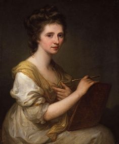 Women in early Art History, Self portrait by female artist Angelica Kauffman a Swiss-born Austrian Neoclassical painter who had a successful career in London and Rome . Chur, Angelica Kauffmann, Joshua Reynolds, Royal Academy Of Arts, National Portrait Gallery, Oil Painting Reproductions, Art Uk, Anton, Oeuvre D'art