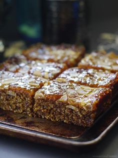 Sticky Apricot Jam Bars (Free From: gluten and grains, dairy, eggs, refined sugar, and added oils)