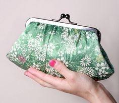 Mint garden Fifi clutchLimited edition by BagatellesAndCo on Etsy