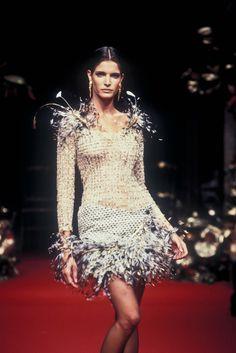 Stephanie Seymour - Christian Dior Haute Couture Fall/Winter 1994.
