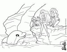 Barbie in a Mermaid Tale coloring page DinoKids Wood Burning