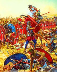 Roman Legion repulsing a Parthian cavalry charge