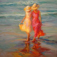 Copyright  Diane Leonard....wouldn't that be fun...a walk along the beach with a good friend.
