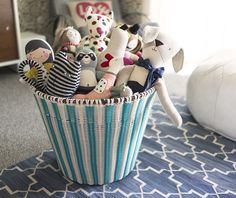 a toy bin and ottoman in one | Life in Color