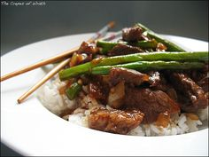 garlic beef and green beans