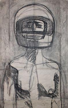 Adrienn Erdei - Untitled, coal drawing, 80 x 50 cm, 2017. Sketch.