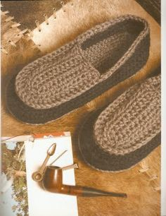Crochet slippers with diagram