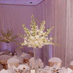 Image result for white delphinium centerpiece