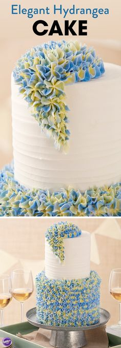 This Elegant Hydrangea Cake is sure to impress mom for Mother's Day. Decorated with stunning buttercream flowers, this cake is the perfect marriage between elegance and class.