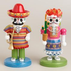 One of my favorite discoveries at WorldMarket.com: 7' Wooden Los Muertos Nutcrackers, Set of 2 #halloween