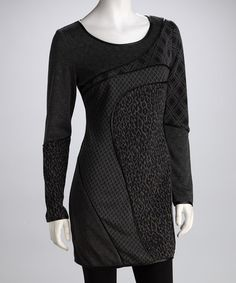 Take a look at this Gray Leopard Patchwork Dress by Fantazia on #zulily today!