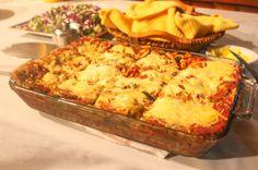 Lasagna dinner at Tranquilo Lodge Drake Bay, Osa Peninsula Costa Rica #fishing #travel #vacation