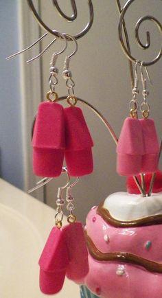 OMG!  eraser earrings!