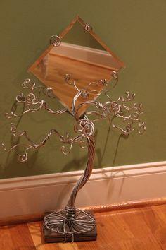 Mirror Jewelry Tree Organizer Display Ring by schenalindley, $65.00