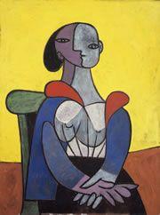 パブロ・ピカソ《黄色い背景の女》 1937年 東京ステーションギャラリー蔵 c2015 ? Succession Pablo Picasso ? SPDA(JAPAN)