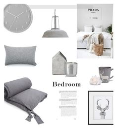 GREY BEDROOM by canvas-moods on Polyvore featuring interior, interiors, interior design, home, home decor, interior decorating, French Connection, Zara Home, Umbra and Tom Dixon