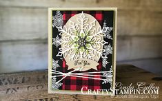 @lindaleecullen posted to Instagram: Coffee & Crafts Class:  Snowflake Showcase  | Stampin Up Demonstrator Linda Cullen | Crafty Stampin' | Purchase your Stampin' Up Supplies | Snow is Glistening Stamp Set |  Buffalo Check Stamp Set | Snowfall Thinlits Dies | Subtle Textured Impressions Embossing Folder | White Velveteen Sheets | Festive Farmhouse Cotton Twine             • • • • •  #stampinupdemonstrator #diy #cardmaking #tutorial #papercrafting #handmadecards #doityourself #craft #papercrafts