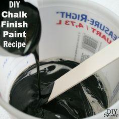 DIY Chalk Finish Paint Recipe