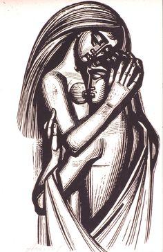 Couple 2 tassos A Digital library. Municipal Art Gallery of Larissa - G. Greek Paintings, Engraving Illustration, Cute Couple Art, Diy Resin Art, Greek Art, Wood Engraving, Gravure, Graffiti Art, Erotic Art