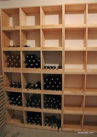 Saturday, I dove right into my wine storage solution.  The sonotube wine rack just wasn't cutting it.  You can see that project here!   ...