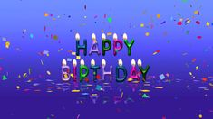 Colorful Happy Birthday Animation Video Free Download - YouTube Free Happy Birthday Song, Free Birthday Greetings, Birthday Wishes Greeting Cards, Happy Birthday Cake Images, Happy Birthday Wallpaper, Birthday Animation Video, Birthday Songs Video, Colorful, Tour Eiffel