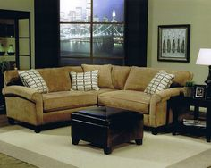 Small Sectionals for Small Living Rooms | Adorable Small Sectional Sofa For Small Living Room With Rustic Yellow ...
