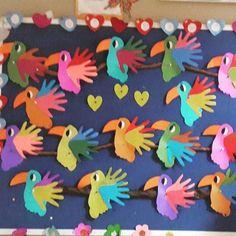 handprint parrot craft More