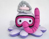 snorkel octopus plushie and oyster