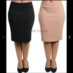 """Plus size skirt high waisted pencil slit New Sexy New, plus size high waisted pencil straight skirt. Knee length = 24.5"""" 95% Polyester +5% spandex  Please comment the color needed. Boutique  Skirts"""