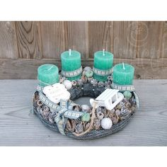 Stunning Christmas Sweater Wreath Advent Candles Decoration Ideas - Page 14 of 55 - Chic Hostess Christmas Advent Wreath, Christmas Crafts For Gifts, Christmas Candles, Christmas Centerpieces, Xmas Decorations, Winter Christmas, Mery Chrismas, Advent Candles, Decorating With Pictures
