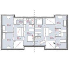 Entwurf für ein Doppelhaus in Wentorf, Hamburg