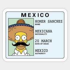 Homer Sanchez Sticker - The Simpsons Bubble Stickers, Phone Stickers, Anime Stickers, Cool Stickers, Printable Stickers, Preppy Stickers, Homemade Stickers, The Simpsons, Disney Drawings