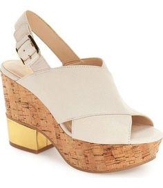 What to Wear in Miami: Nine West Imena Cork Platform Sandal | http://CoastalLiving.com