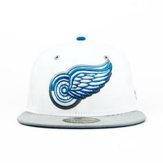 Detroit Red Wings White Gray Photo Blue (Gray Under) 59fifty