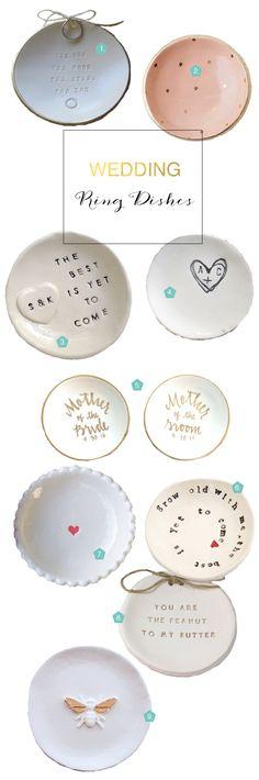 Best wedding ring dishes via Etsy