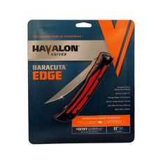 "Havalon Knives - Baracuta Fitment - Edge, 4 1/2"" Trailing Point Blade with Plain Edge and Nylon"