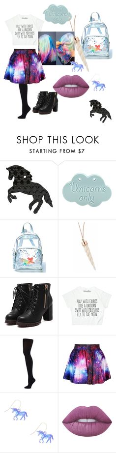 """""""Unicorn Magic"""" by exorcist-seta-lee ❤ liked on Polyvore featuring Current Mood, Capezio Dance, claire's and Lime Crime"""