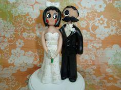 Customized Natty Boh and Utz Girl Wedding Cake Topper. $115.00, via Etsy.