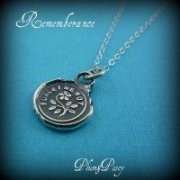 Forget me Not Whimsy Necklace from Antique Wax Seal
