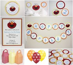 Elmo party - LOVE Colors