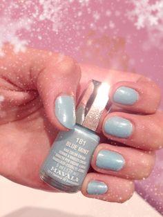 Blue mint nail polish color.. (MAVALA)