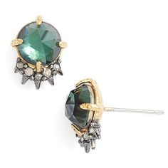 Alexis Bittar 'Elements - Spiked Crystal' Stud Earrings ($95) ❤ liked on Polyvore featuring jewelry, earrings, imitation jewelry, sparkle jewelry, crystal jewelry, hammered jewelry and hammered earrings