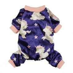 Unicorn Purple Pajamas Puppies In Pajamas, Cute Pajamas, Unicorn Stuffed Animal, Pajama Outfits, Dog Store, Dog Dresses, Pet Clothes, Fur Babies, Pet Supplies