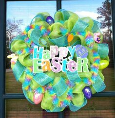 easter mesh wreaths - Google Search