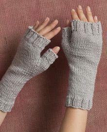 Simple, yet elegant fingerless gloves in Ava.