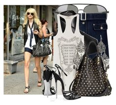 """""""gossip girls' style........!!!!!!!!!!!!!"""" by lilia ❤ liked on Polyvore featuring Tom Ford, C.C, Torn by Ronny Kobo, Charlotte Russe and Be & D"""